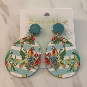 Periwinkle by Barlow Tropical Parrot Earrings